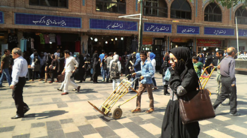 Gran bazar de Teherán.